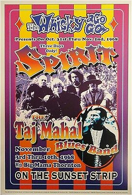 The Taj Mahal Blues Band & Spirit Whisky a Go Go 13x19 UNSIGNED Poster