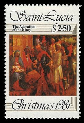 "ST. LUCIA 567 (SG605) - Christmas ""Adoration of the Magi"" (pf19140)"
