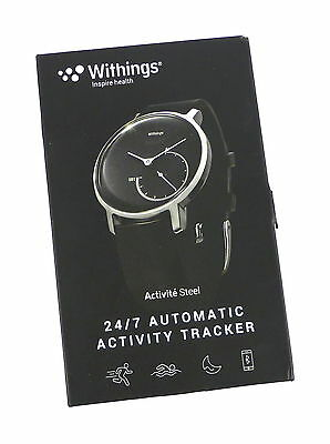 New Withings HWA01-Steel-Black Activité Steel 24/7 Automatic Activity Tracker