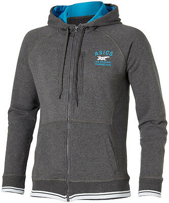 Asics Full Zip Mens Training Hoody - Grey