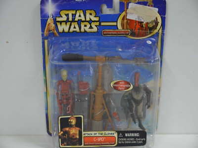 273) Star Wars Attack Of The Clones C-3PO with Droid Factory Assembly Line  *
