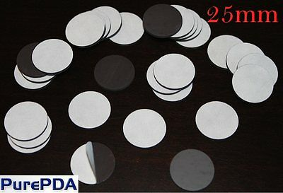 Circle Round Self Adhesive Sticker Magnet for Fridge Pamphlets Card 25mm (2.5cm)