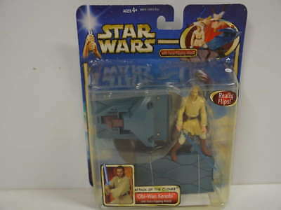 278) Star Wars Attack Of The Clones Obi-Wan Kenobi with Force-Flipping Attack! *