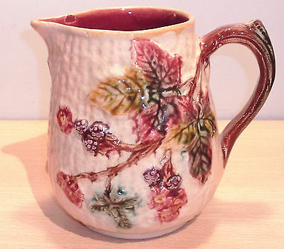 Vintage Pottery JUG with Colourful Leaves - made in England - Unknown maker