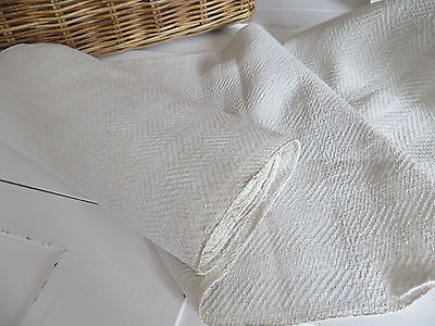 Unused Antique  Handwoven  Natural  Huck Linen Roll  Yardage  16  by 10  Yards