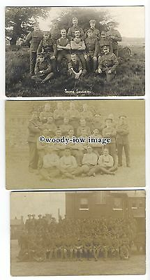 su2902 - Groups of Soldiers from WW1, unknown Troops or Counties - 3 postcards