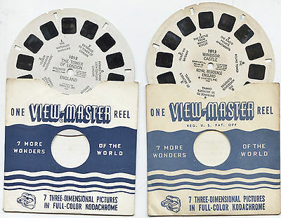 VIEWMASTER Reels x2 OLD Windsor Castle & Tower of London, England 1012 & 1013