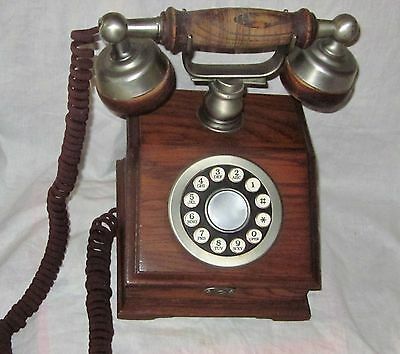 """Western Electric """"Country Squire"""" Wood Desk Telephone."""
