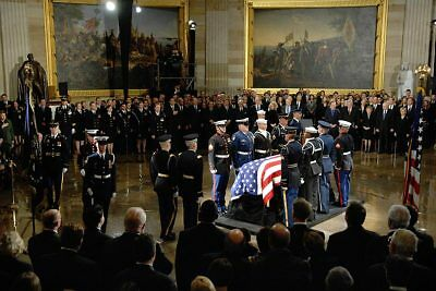 Armed Forces Honor Guard w/ Gerald Ford's Casket 12x18 Silver Halide Photo Print