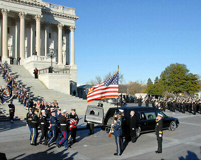 Gerald Ford Casket and Hearse 11x14 Silver Halide Photo Print