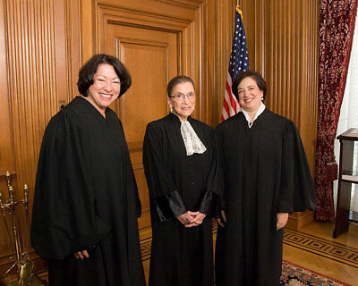 JUSTICES SOTOMAYOR, GINSBURG, AND KAGAN 8x10 SILVER HALIDE PHOTO PRINT