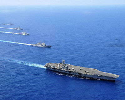 Nimitz Carrier Strike Group In South China Sea 11x14 Silver Halide Photo Print