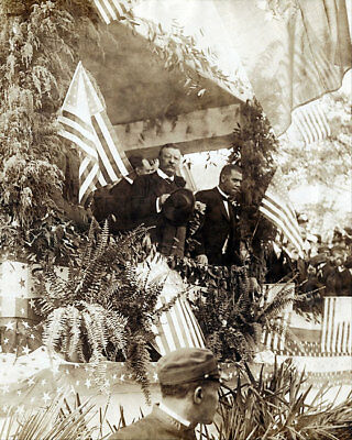 Theodore Roosevelt and Booker T Washington 11x14 Silver Halide Photo Print