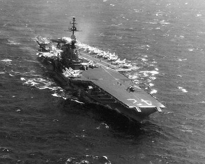 USS Franklin D. Roosevelt w/ Carrier Air Wing 6 11x14 Silver Halide Photo Print