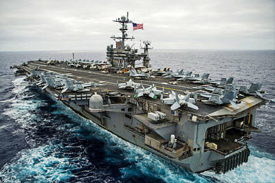 USS George Washington And Carrier Air Wing 5 8x12 Silver Halide Photo Print