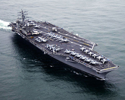 USS Nimitz CVN 68 and Carrier Air Wing CVW 11 11x14 Silver Halide Photo Print