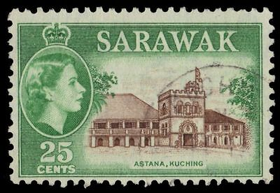 "SARAWAK 206 (SG197) - Queen Elizabeth II ""Governor's Residence"" (pa13155)"