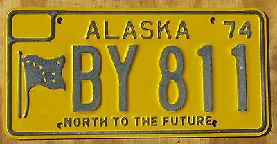 ALASKA - NORTH TO THE FUTURE  license plate  1974  BY 811