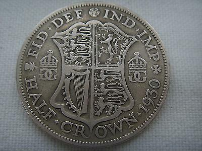 1930 George V Half Crown 2/6 Low Mintage Free P & P