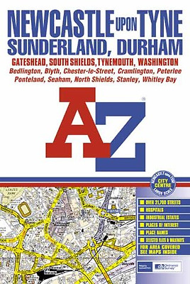 A-Z Newcastle Upon Tyne Street Atlas, Good Condition Book, Geographers' A-Z Map