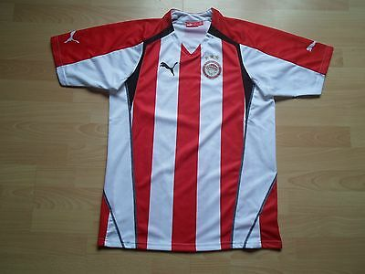 Perfect Puma Olympiacos 2005-06 Home Shirt Jersey Top Greece Size Large