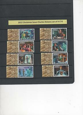 Jersey  2012 Christmas issue-Charles Dickens set of 8 CTO stamps firstday cancel