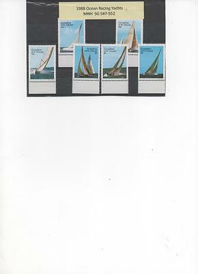 Grenadine St. Vincent 1988 set of 6 MNH stamps Ocean Racing Yachts