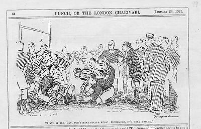 10 Vintage Punch RUGBY Cartoons