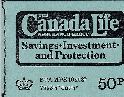 50P Booklet February 1973 Canada Life Sg Dt9