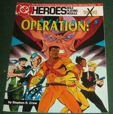 DC HEROES OPERATION: ATLANTIS Role Playing Module 24 Taskforce X Mayfair Games