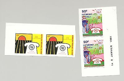 Benin 1980 ITU, UN, Communications, Telephone 2v Imperf Pairs