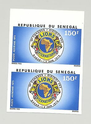 Senegal #C121 Lions Club 1v Imperf Pair