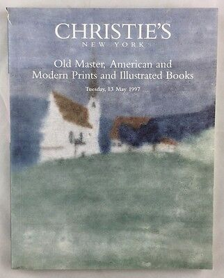 Auction Catalogue 1997 Christie's New York Old Master American Prints Books