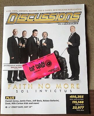 FAITH NO MORE Sol Invictus MARIAH CAREY Shilpa Ray Discussions MAGAZINE