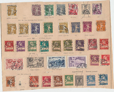 A very nice old Swiss album Page values to 10F