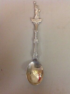 FREE SHIPPING!! VINTAGE ANTIQUE SOUVENIR SPOON- New York City Statue Of Liberty