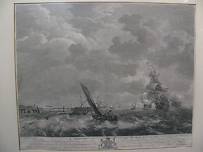 Ludolf Bakhuizen Backhuysen A Moderate Gale  London 1766 Stich
