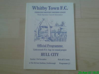 1996-97 Whitby Town v Hull City - FA Cup