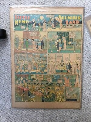 Wonderful Little Nemo In Slumberland Comic Page From Sep 190? Very Good Conditio