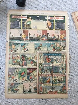 Wonderful Little Nemo In Slumberland Comic Page From Dec 1905 Good Condition.