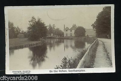 SOUTHAMPTON   On the Itchen - - view of River and House with Bridge   RP