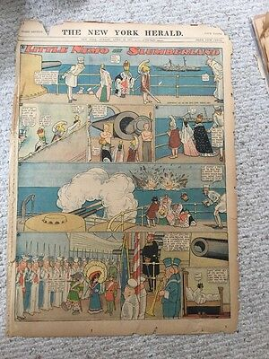 Wonderful Little Nemo In Slumberland Comic Page From Apr 1907 Good Condition.
