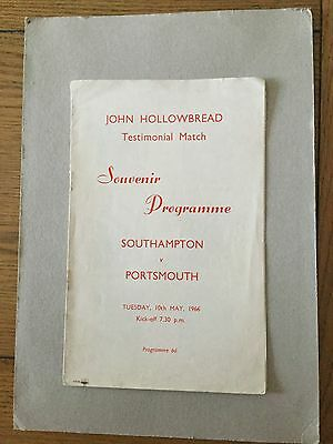 SOUTHAMPTON v PORTSMOUTH ( Hollowbread testimonial ) 1965/6. )