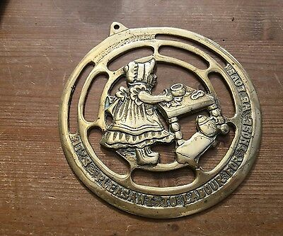 its pleasant to labour brass wall hanging