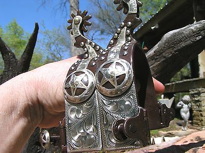 Cowboy Western Men's spurs WITH Leather STRAPS