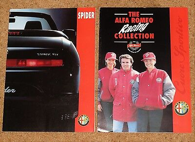 1995 ALFA ROMEO SPIDER Sales Brochure & Racing Collection Brochure T.Spark Lusso