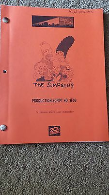 The Simpsons Tv Show Script Episode  Sideshow Bob's Last Gleaming