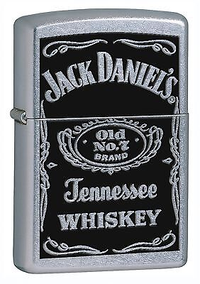 "Zippo Lighter: Jack Daniels ""Old No. 7"" Logo - Street Chrome 24779"