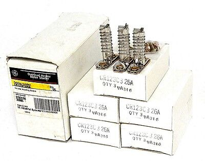 Box Of 15 New General Electric Cr123C326A Heater Elements W/ Mounting Screws