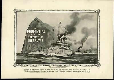 Prudential Life Insurance 1909 Fascinating vintage advertisement print